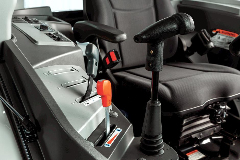 Ergonomic Compact Tractor Controls Inside Bobcat Compact Tractor