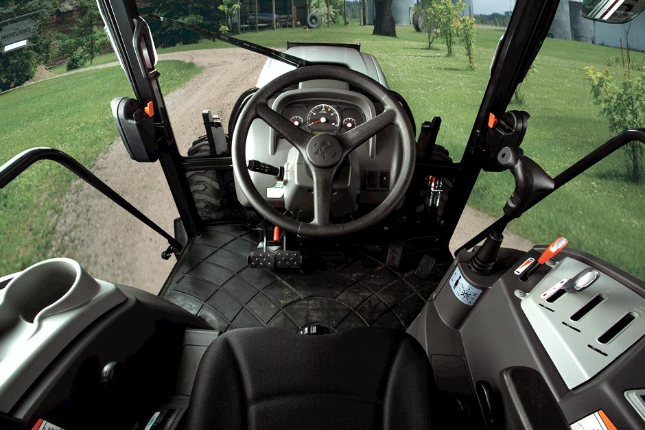 View From Inside Bobcat Compact Tractor Cab