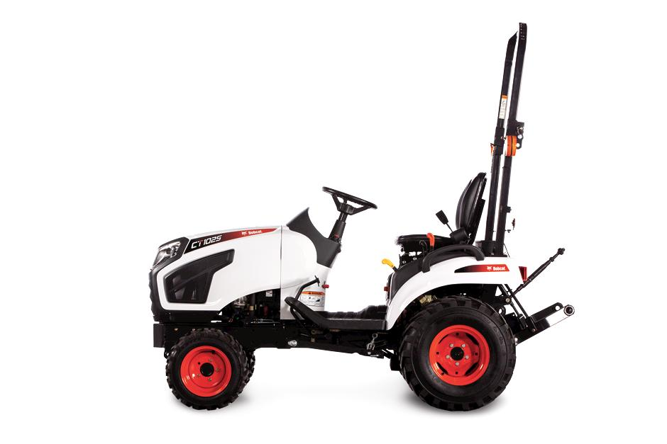 Side-View Photo Of CT1025 Sub-Compact Tractor On White Background