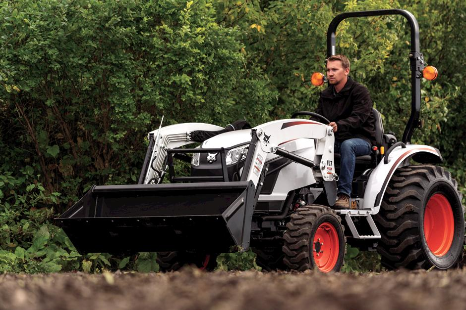 Bobcat Compact Tractor with front-end loader