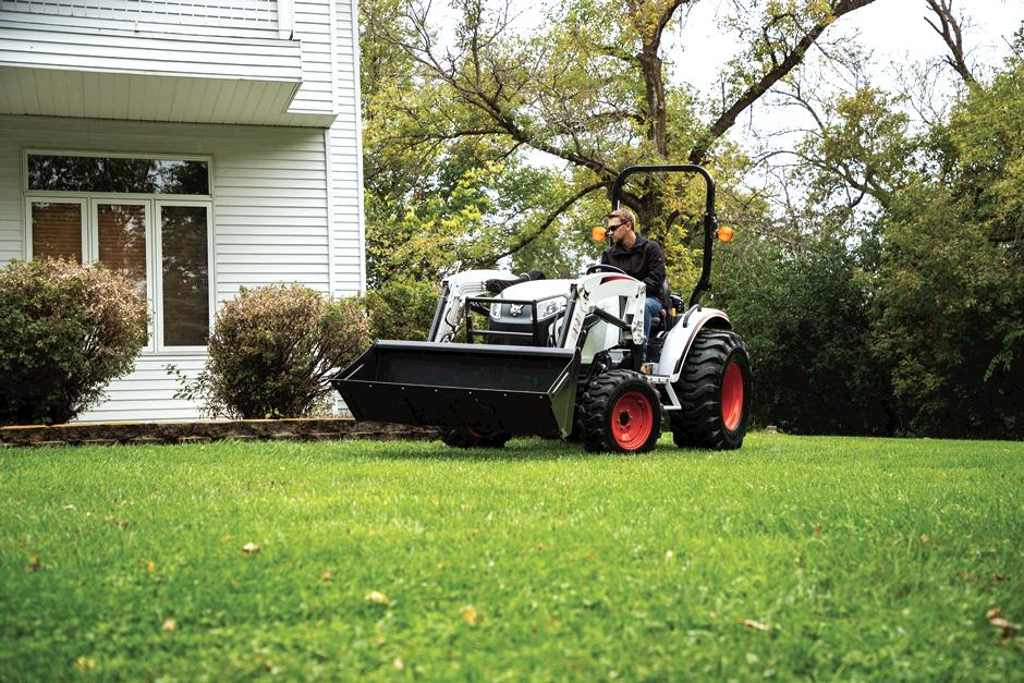 Property Owner Uses Bobcat Compact Tractor For Land Maintenance