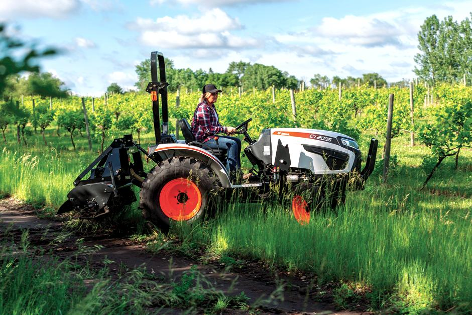 Farmer Uses Bobcat Compact Tractor to Till His Acreage