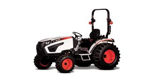 Bobcat CT2035 compact tractor with open tractor cab and roll over protective system
