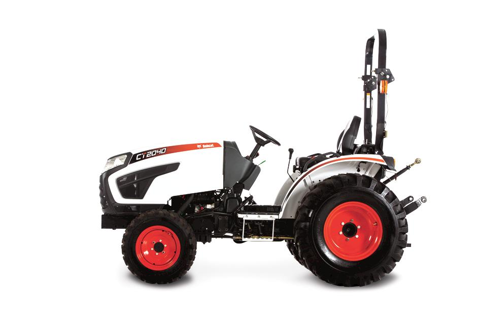 Bobcat CT2040 Compact Tractor On White Background