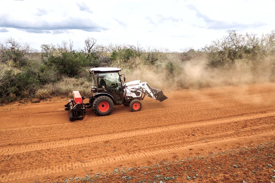 Bobcat CT2540 Compact Tractor Seeding A Food Plot