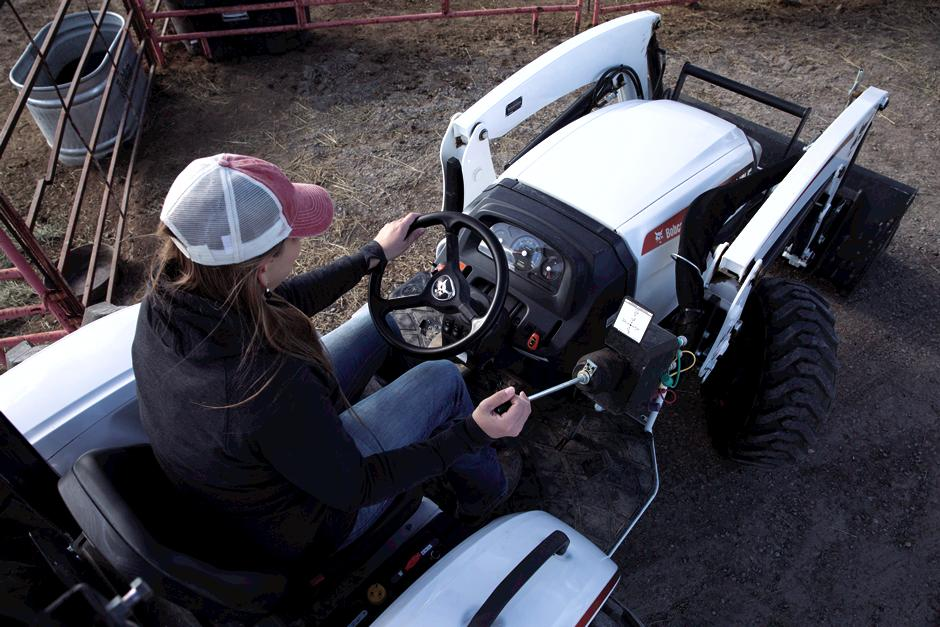 Overhead Photo Of Operator Sitting On CT4045 Compact Tractor