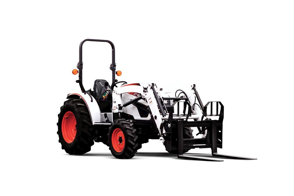 Bobcat CT4058 Compact Tractor On White Background