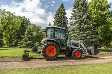 Acreage Owner Uses Bobcat Compact Tractor With 3-Point Angle Blade Attachment To Maintain Gravel Driveway