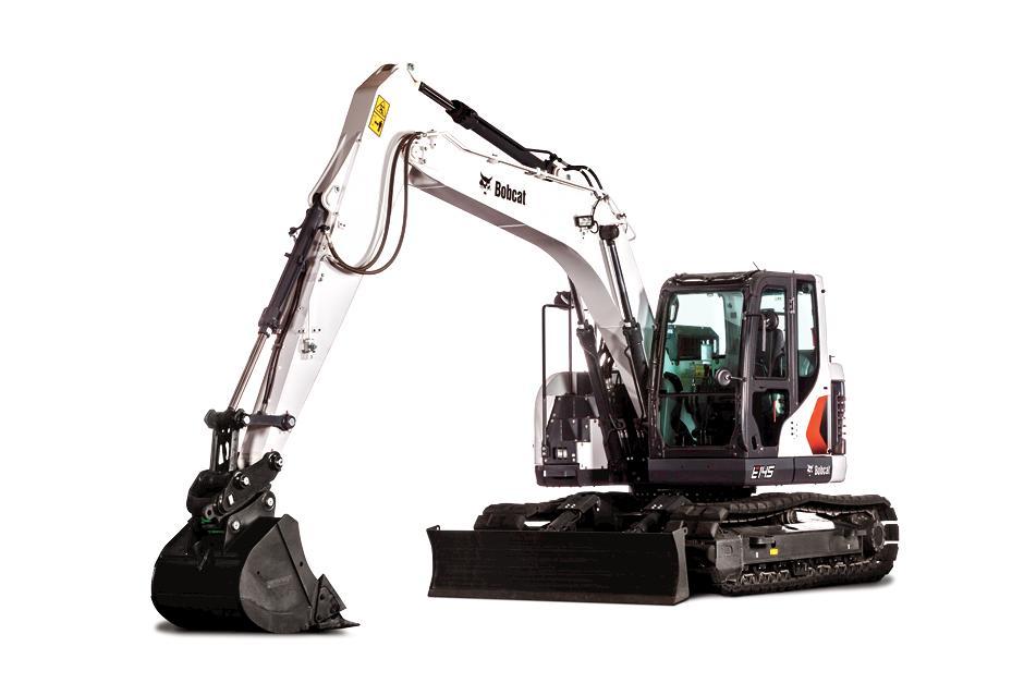 Bobcat 14-Ton E145 Large Excavator.