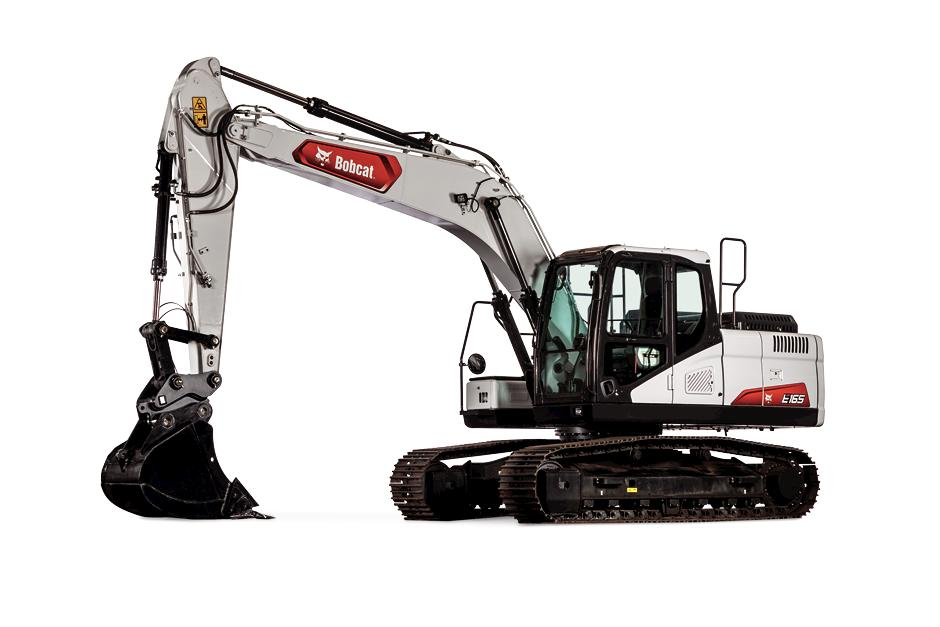 Bobcat E165 Large Excavator Studio Shot