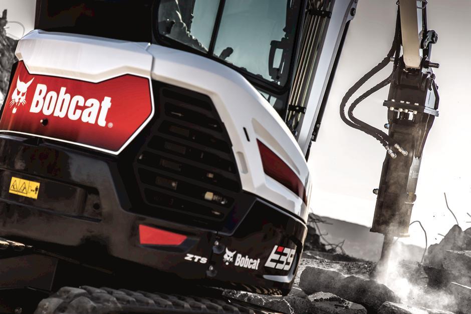 Bobcat E35 Compact Excavator with Nitrogen Breaker.