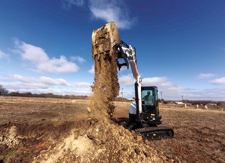 Bobcat Customer Using R2-Series E42 Compact Excavator To Dig Jobsite