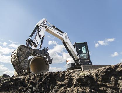 Bobcat E42 with pro-clamp