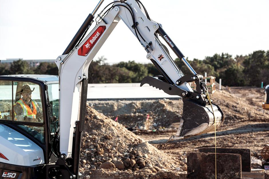 Bobcat E50 Mini Excavator With Integrated Lift Eye