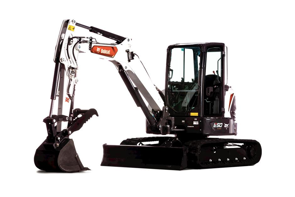 E50 Bobcat Mini Excavator Studio Shot