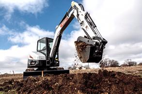Bobcat R2-Series E50 Compact Excavator Trenching