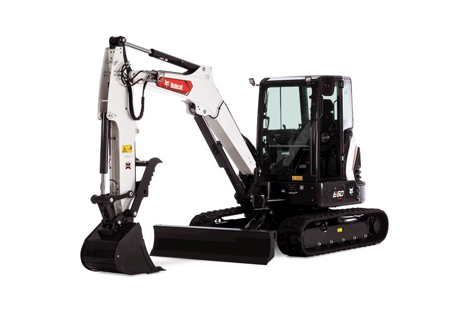 E60 Bobcat Mini Excavator Studio Shot