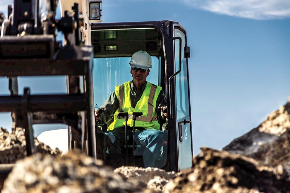 Construction Worker Operated Bobcat E42 Mini Excavator With Superior Visibility