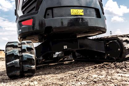 Bobcat E35 compact (mini) excavator and undercarriage.