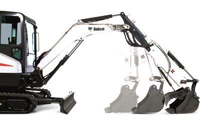 Compact Excavator Arm Configurations