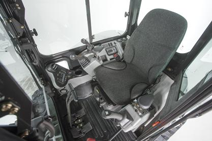 Bobcat compact excavator (mini excavator) cab/operator comfort.