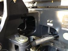 Bobcat compact (mini) excavator centralized grease points for lubricating the slew bearing and the slew pinion.