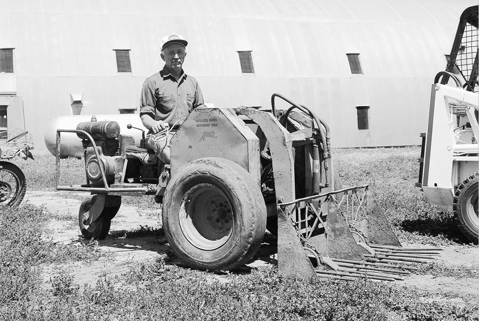 Eddie Velo Operating The Keller Three-Wheeled Loader