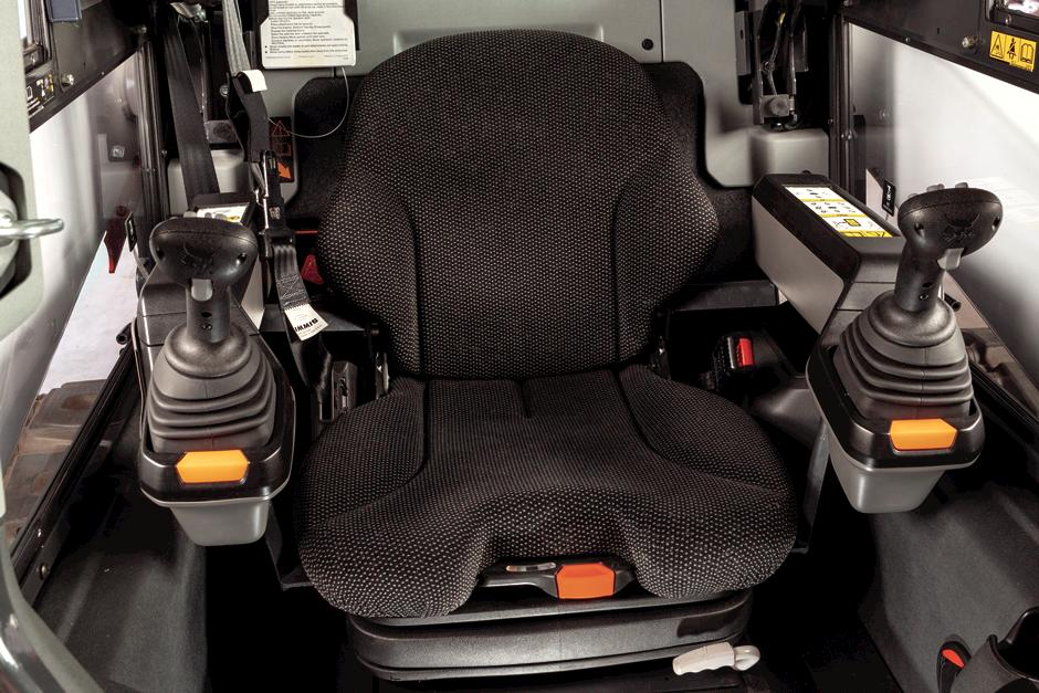 Heated Air-Ride Seat In R-Series Compact Track Loader