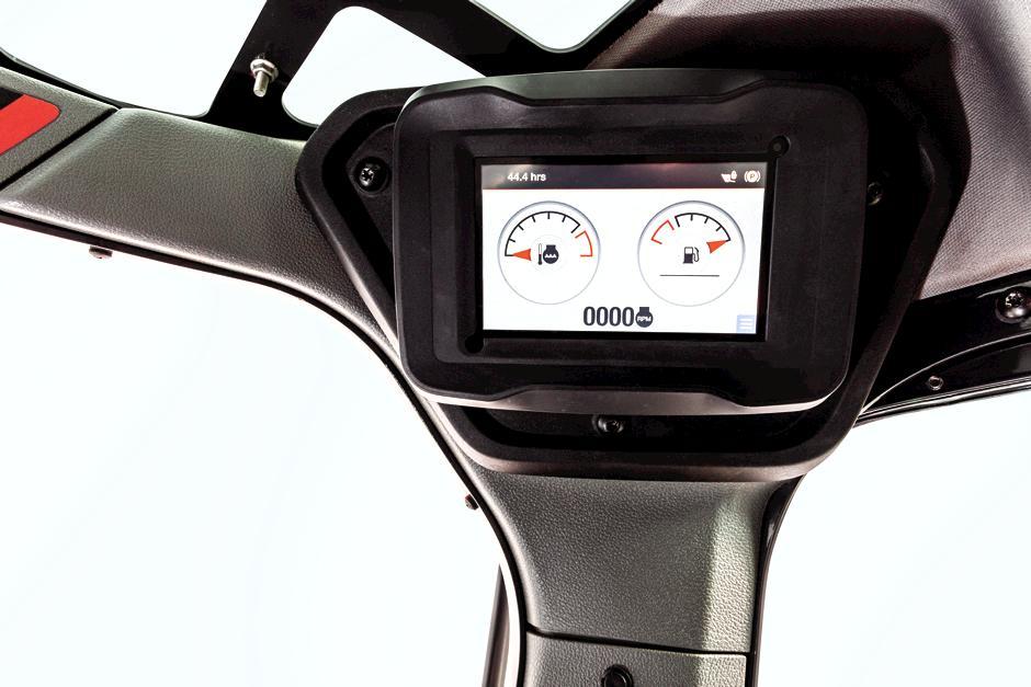 Standard Display Inside R-Series Loader Cab