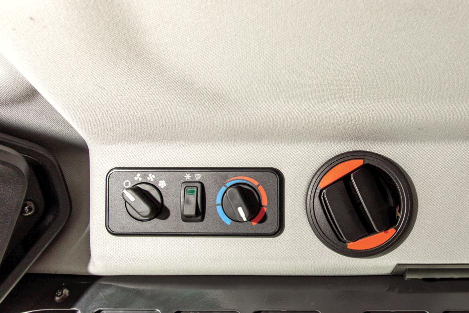 Heat And Air Controls In Compact Track Loader Cab