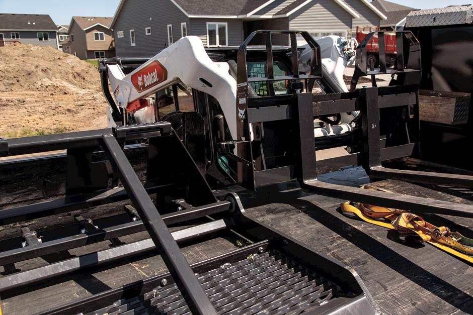 Bobcat Skid-Steer Loader With Bob-Tach Attachment Mounting System