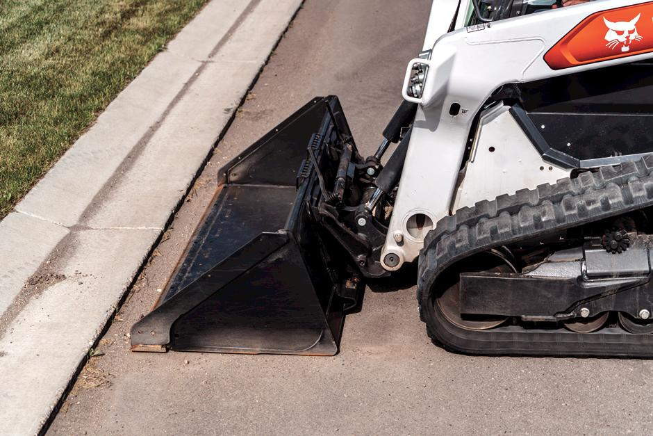 Bob-Tach Attachment Mounting System On Bobcat Compact Loader