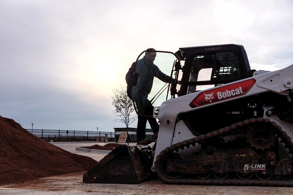 Bobcat Owner Entering Compact Track Loader