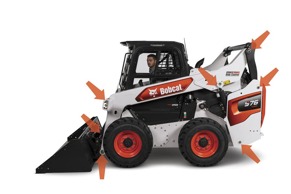 R-Series Skid-Steer Loader With View Of Easy-Access Grease Zerks