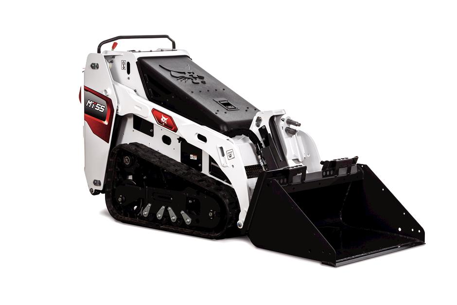 Bobcat MT55 Mini Track Loader Knockout Image On White Background