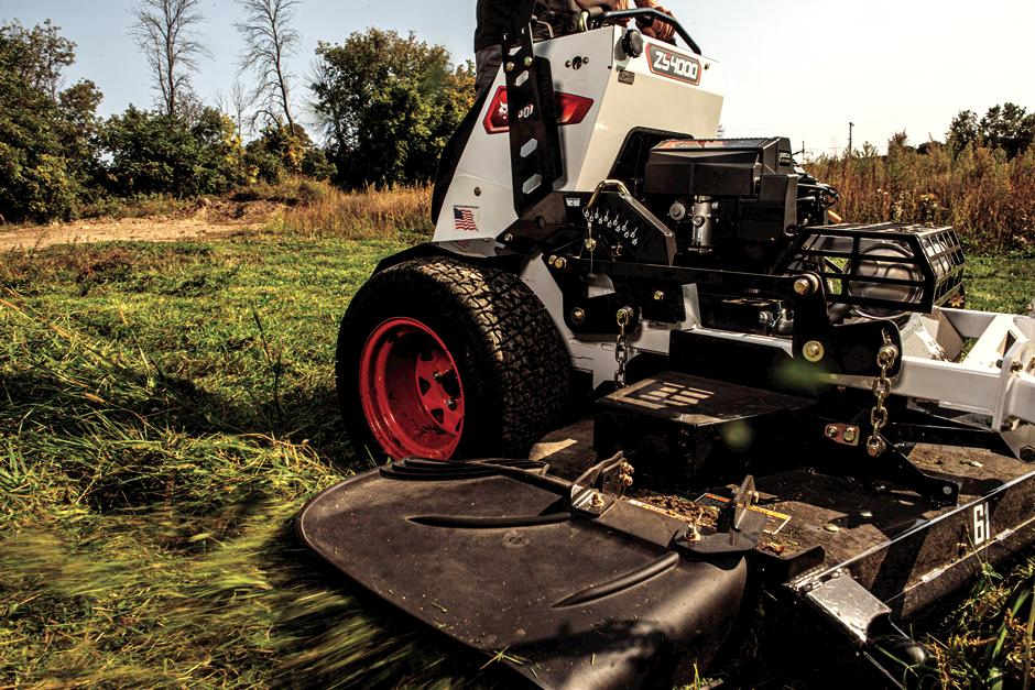 Bobcat ZS4000 Zero-Turn Stand-On Mower In-Action