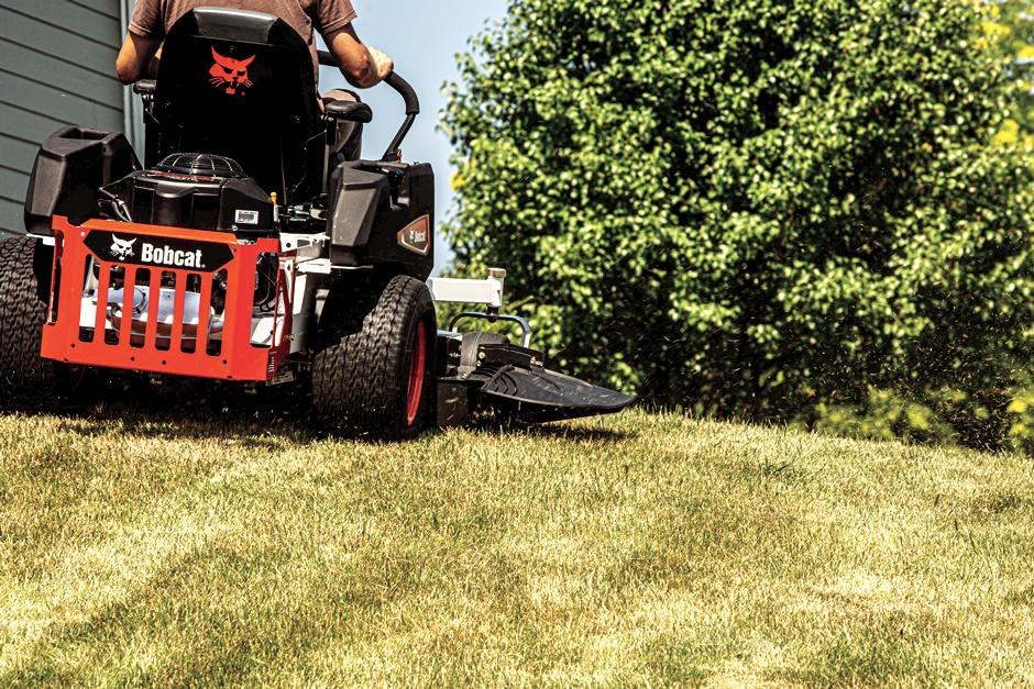 Bobcat ZT2000 Zero-Turn Mower In-Action Up Hill