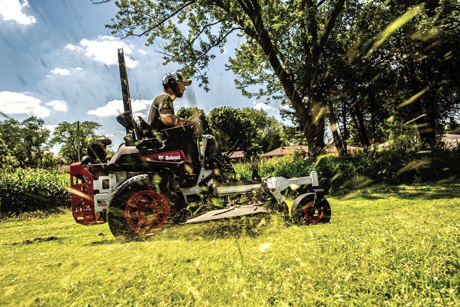 Bobcat Zero-Turn Mower In Action