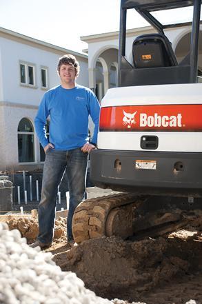 Rocky Wisley with Bobcat excavator
