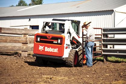 Bobcat S590 skid-steer loader on the farm.