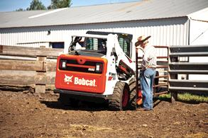 Bobcat S590 skid-steer loader on the farm.