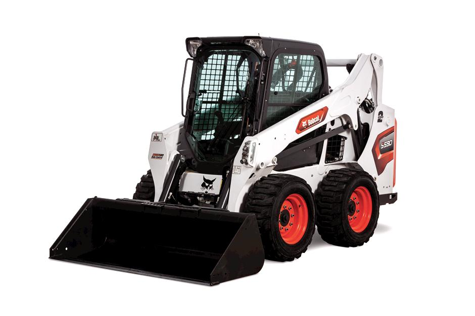 Studio Image Of Bobcat S590 Skid-Steer Loader With Bucket Attachment