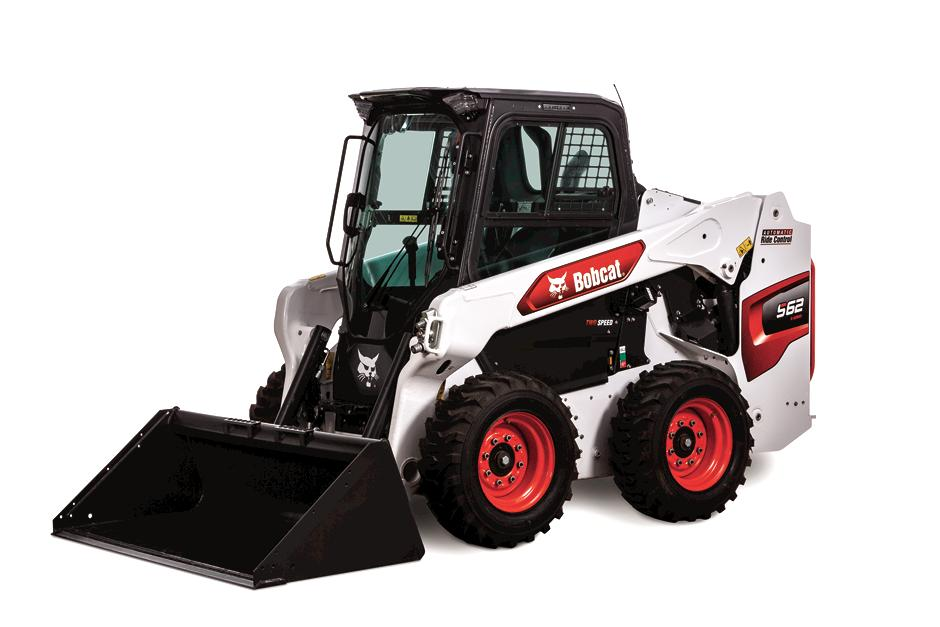 Studio Image Of Bobcat S62 Skid-Steer Loader With Bucket Attachment