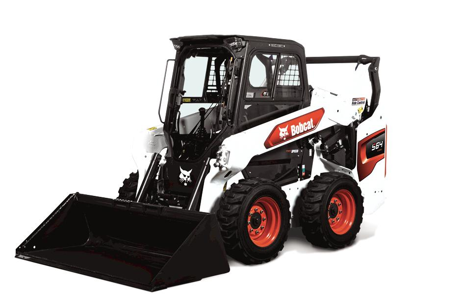 Studio Image Of Bobcat S64 Skid-Steer Loader With Bucket Attachment