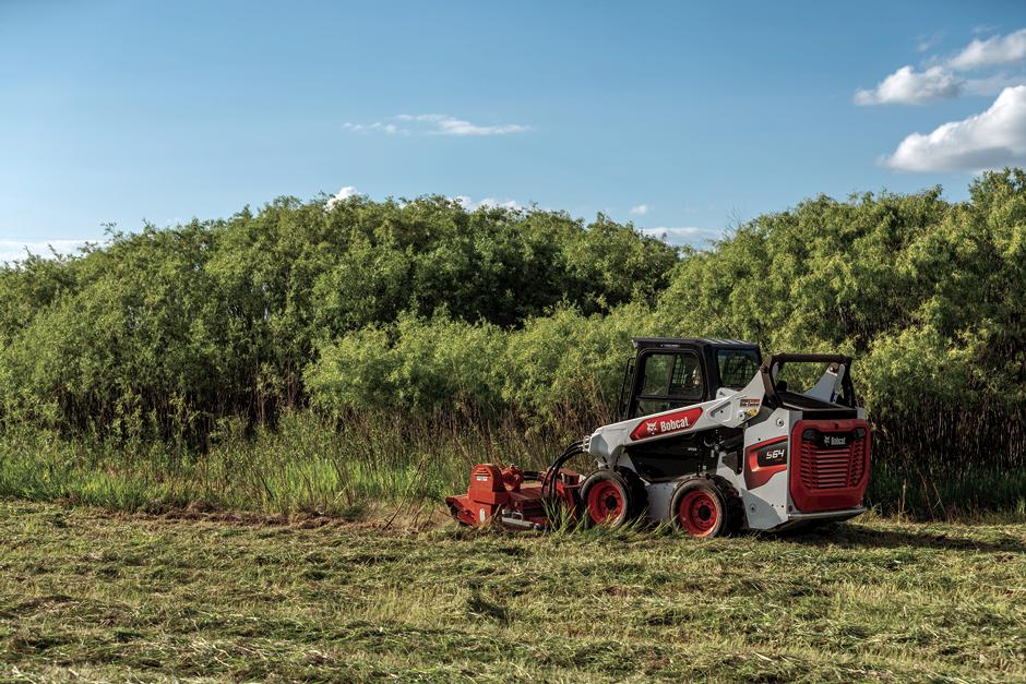 R-Series Skid-Steer Loader Clears Brush With Flail Cutter Attachment