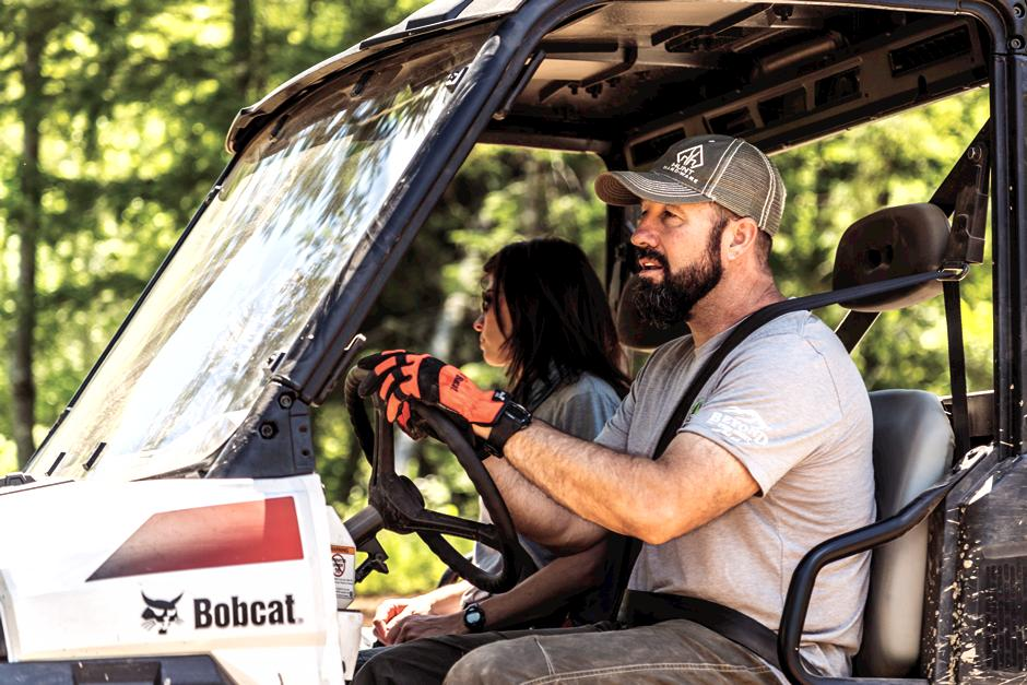 Julie and Rick Take Bobcat Machines With Them Beyond The Hunt