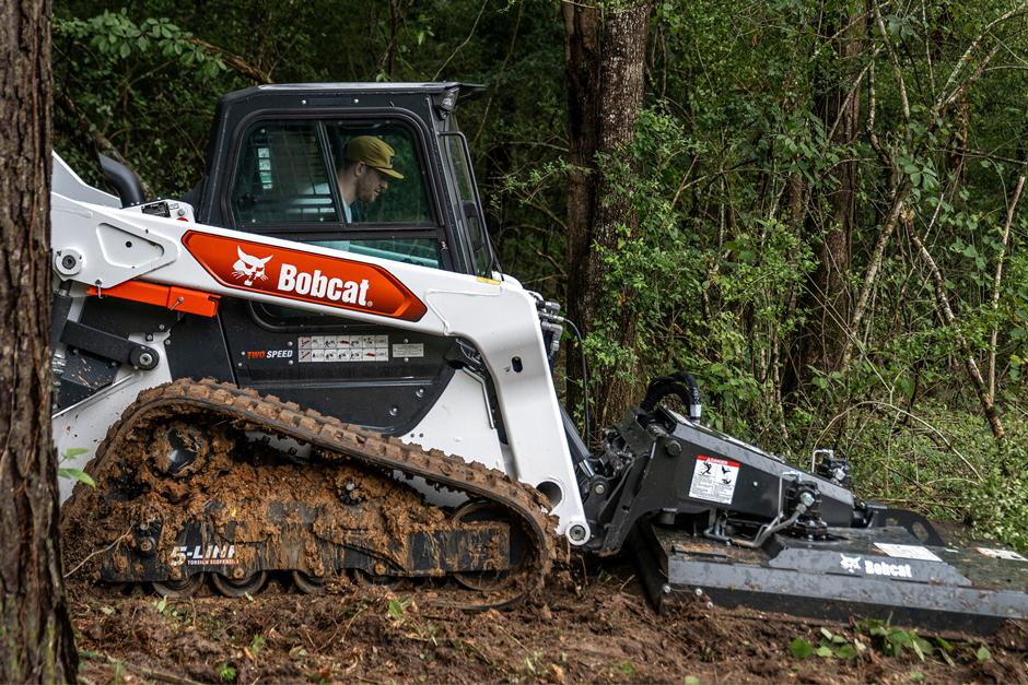 Carson Wentz Uses His R-Series Compact Track Loader With Brushcat Rotary Cutter Attachment To Clear Heavy Brush On His Acreage