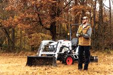 Carson Wentz Stands On His Acreage With His Bobcat Compact Tractor