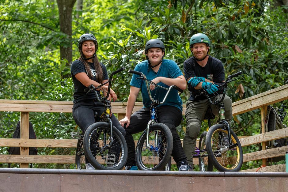 Professional BMXers Ryan Nyquist, Hannah Roberts & Perris Benegas