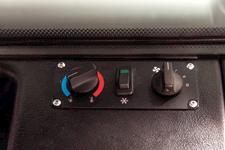 The Bobcat V519 VersaHANDLER telehandler has heat and air conditioning.